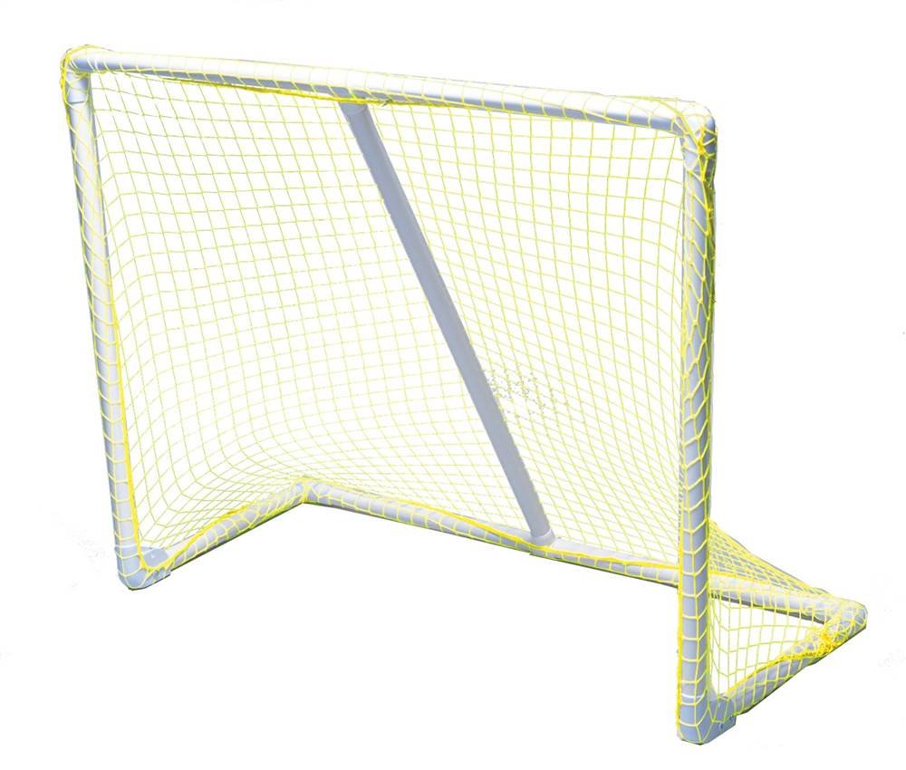 Park & Sun Sports Portable Indoor/Outdoor Multi-Sport Goal with Nylon Bungee Slip Net: Yellow, 54'' W x 44'' H x 24'' D