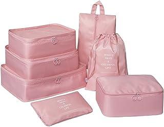 Rojeam Set di 7 Cubi per imballaggio Organizzatori di Viaggio Perfetto di Viaggio Dei Bagagli Organizzatore
