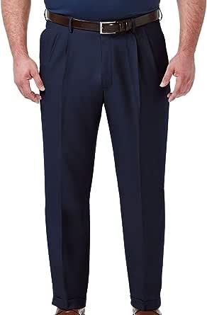Haggar Mens HD90651 Big & Tall Premium Comfort Classic Fit Pleat Front Pant Dress Pants