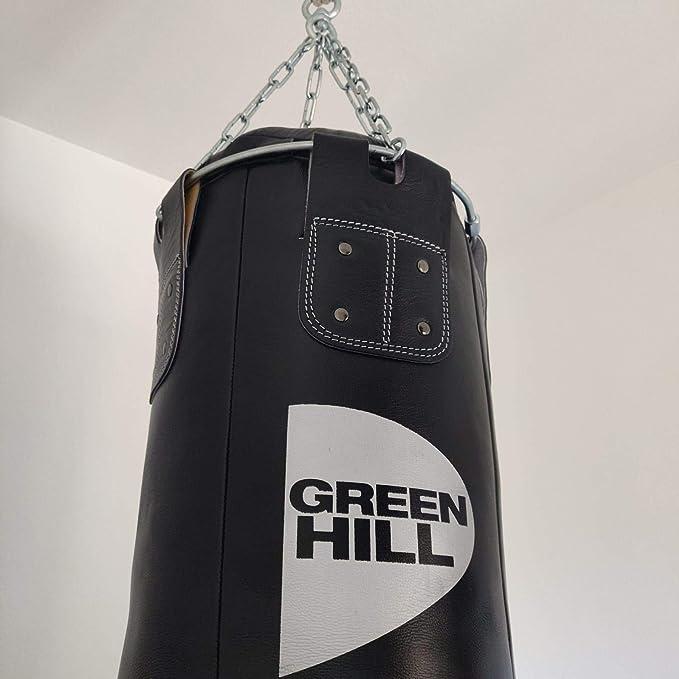 GREEN HILL SACCO DA BOXE VERA PELLE PUGILATO PIENO BOXING PUNCHING BAG SACCONE 150cm x 35cm x 50kg
