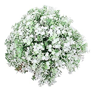 Duovlo Babys Breath Artificial Flowers Colorful Gypsophila Bouquets Short Flowers for Wedding Home DIY Decor,Pack of 2 15