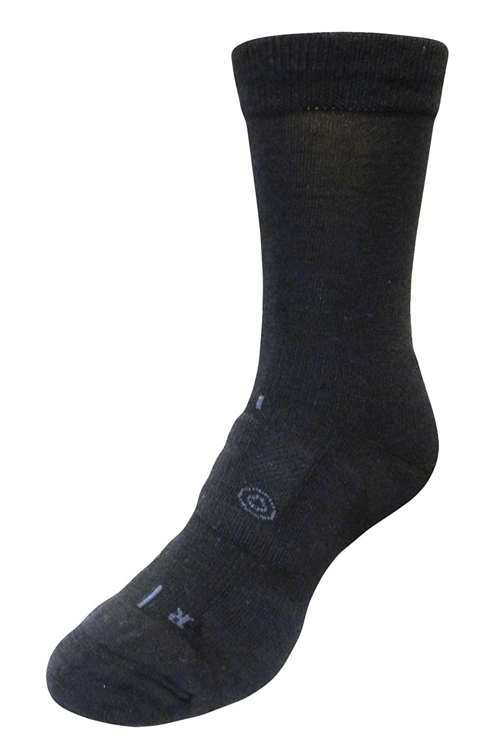 LifeSocks BasePlus Women's Merino Socks with Seacell Active, Black, Large
