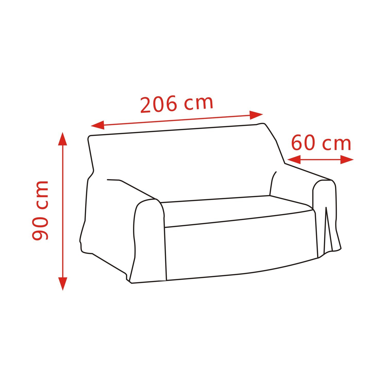 Deconovo Cubre de Sillón Forro de Sofá Protector de Muebles con Brazos 90 x 60 x 206 cm Rojo
