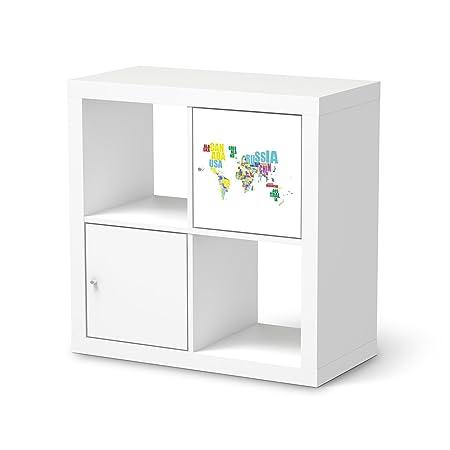 Furniture decal sticker ikea kallax 1 door panelsticker world map furniture decal sticker ikea kallax 1 door panelsticker world map whiteself gumiabroncs Images