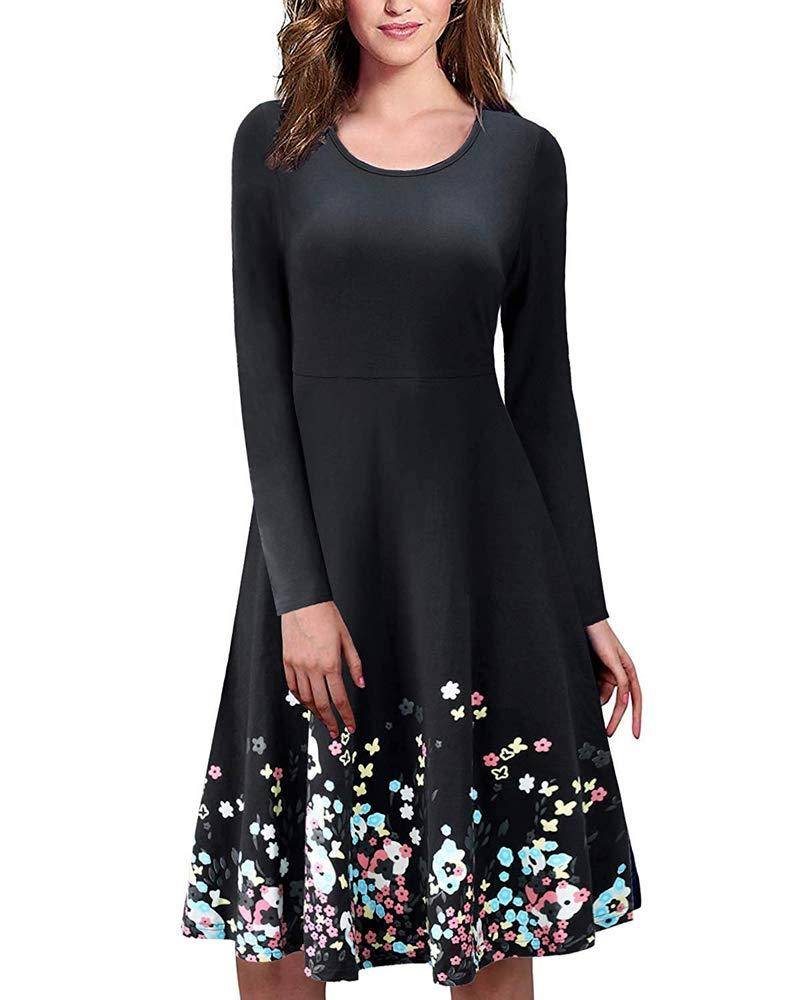 Imixshopcs Womens Printed Sleeveless Sundress A-line Mini Beach Dress