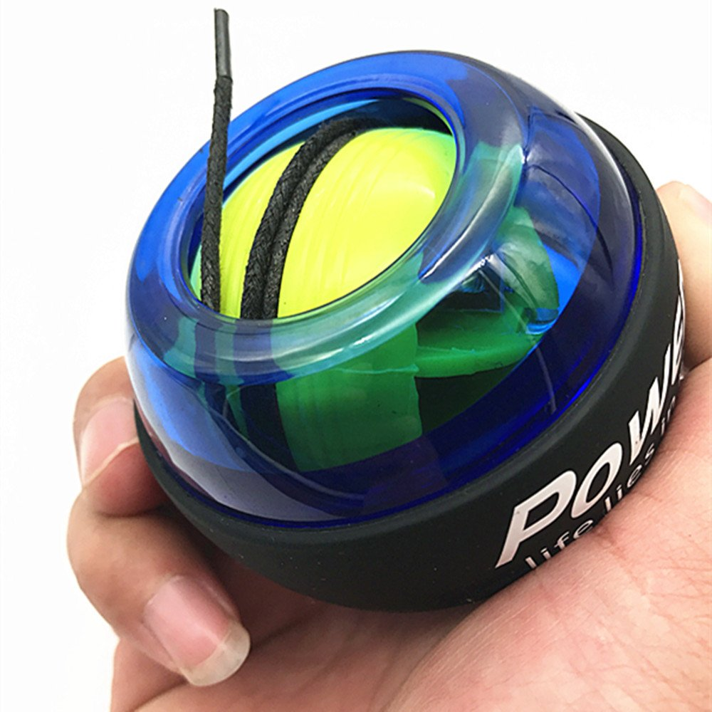 Wrist Trainer Wrist Ball Powerball Workout Toy Gyroscopic Ball - Arm Strengthener -- Wrist & Forearms Exerciser (Green 3)