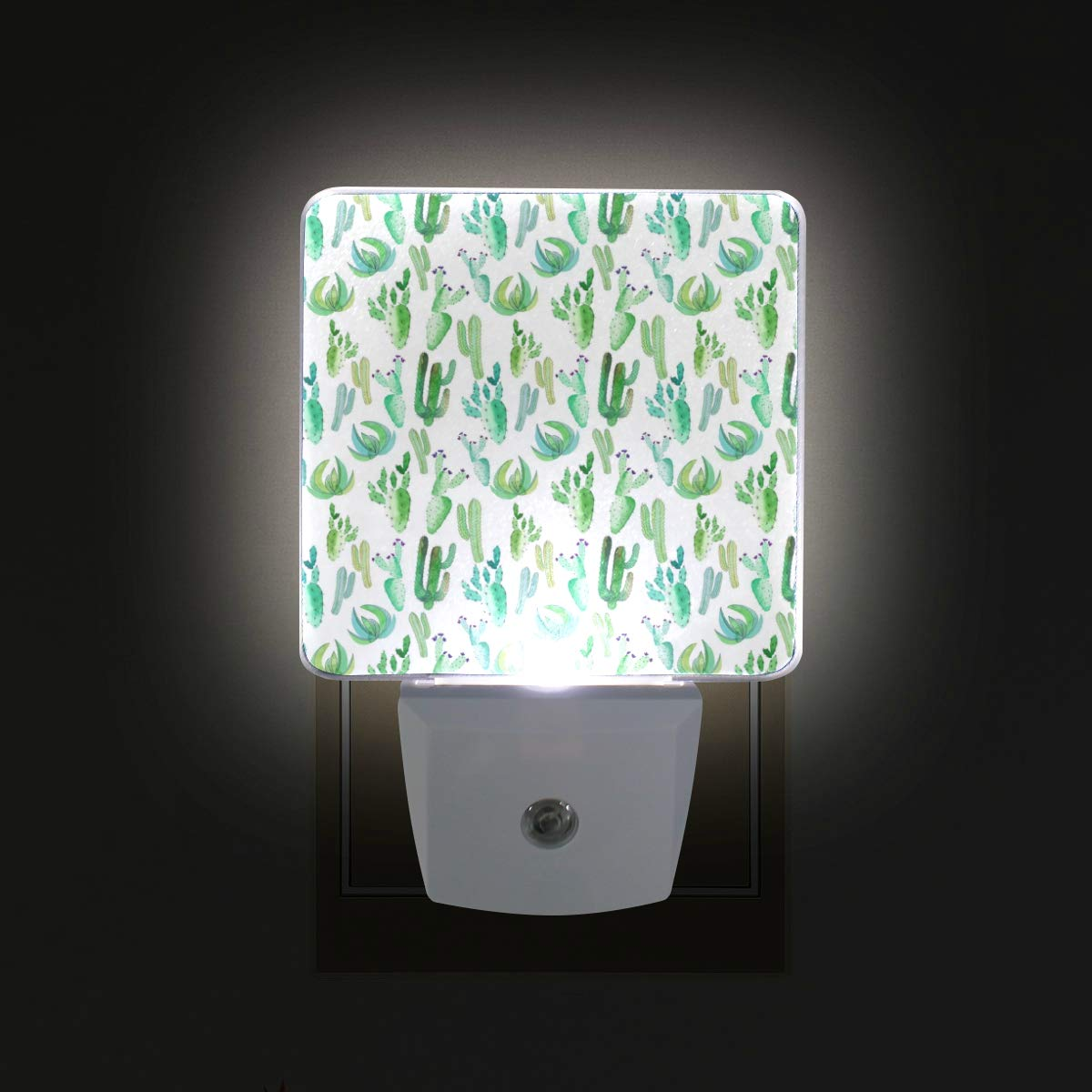 Brighter Mexican Tropical Floral LED Sensor Night Light for Kids&Adults Bedroom Dusk to Dawn Night Lights Lamp Perfect for Hallway,Dining Room