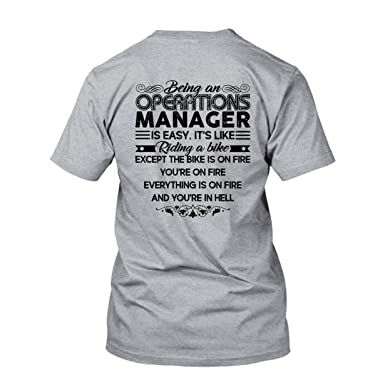 Amazon com: Being an Operations Manager T Shirt, Cool Shirts
