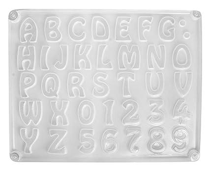 Rayher 36014000 Giessform Buchstaben Zahlen 37 Motive Ca 2 3 Cm Grosse 23 2 X 18 3 Cm