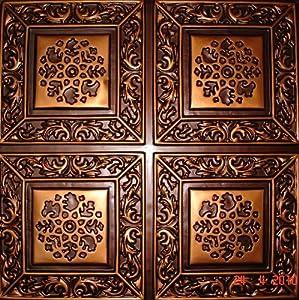 203 faux tin ceiling tile glue up copper - Copper Ceiling Tiles