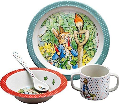 Petit Jour Peter Rabbit Service de table 4 pièces Coffret cadeau Pierre Lapin BP901G