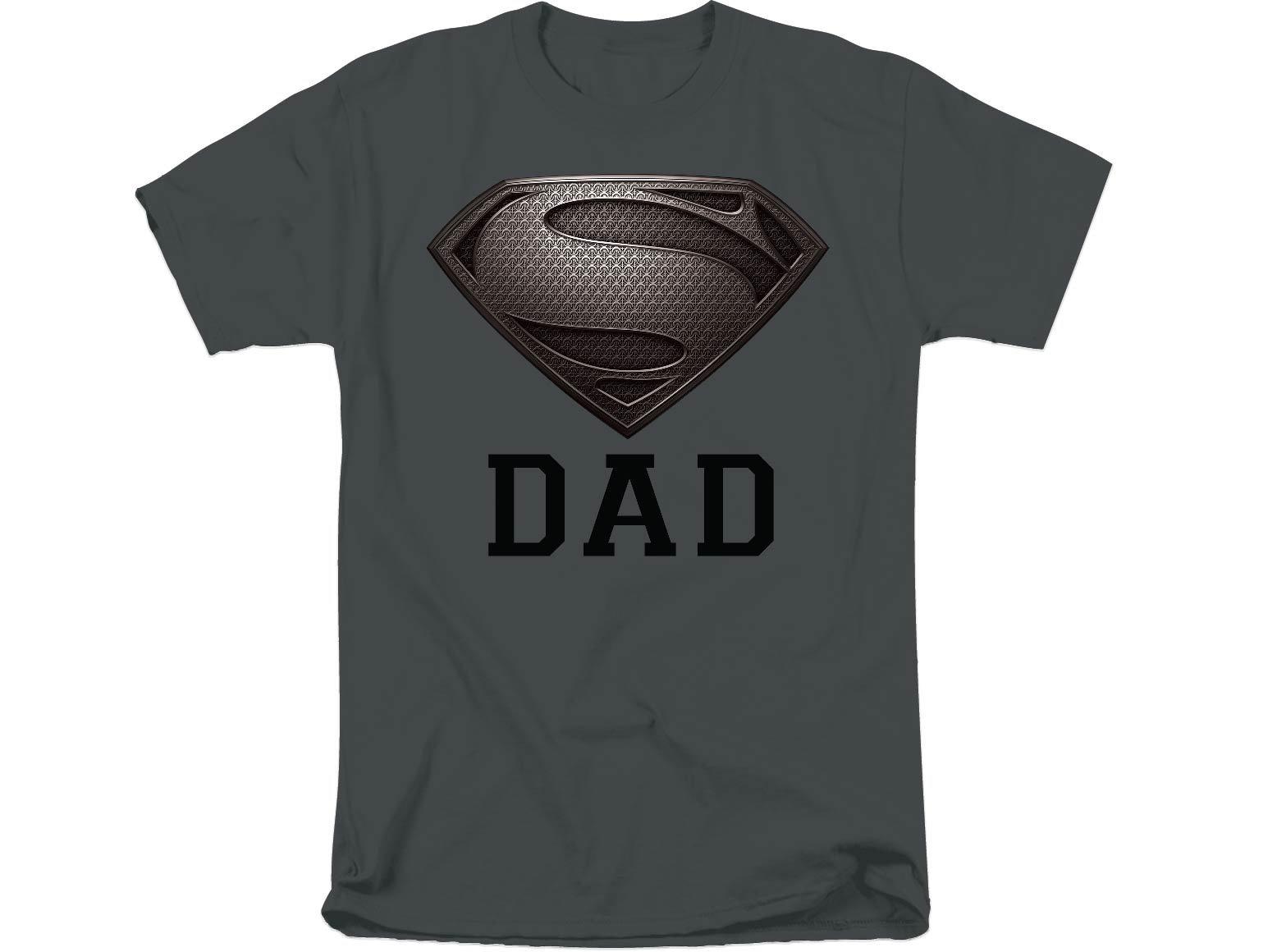 Dc Comics Superman Logo Super Dad S Tshirt Tee Charcoal