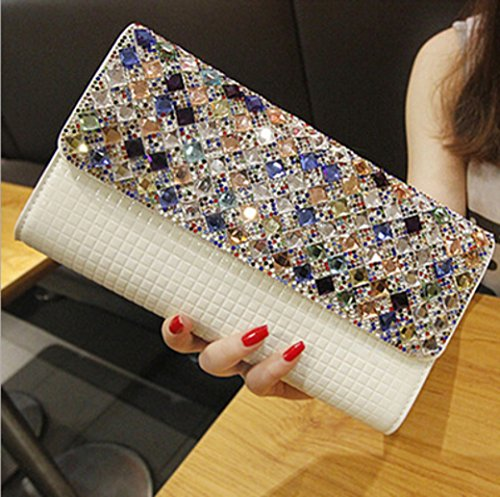 Grab Bags SHISHANG Shoulder Diamond White Big Evening Women Clutch Bags Bags CUIYAN Dresses Bags Women's Hand Messenger 7tn1qxXn