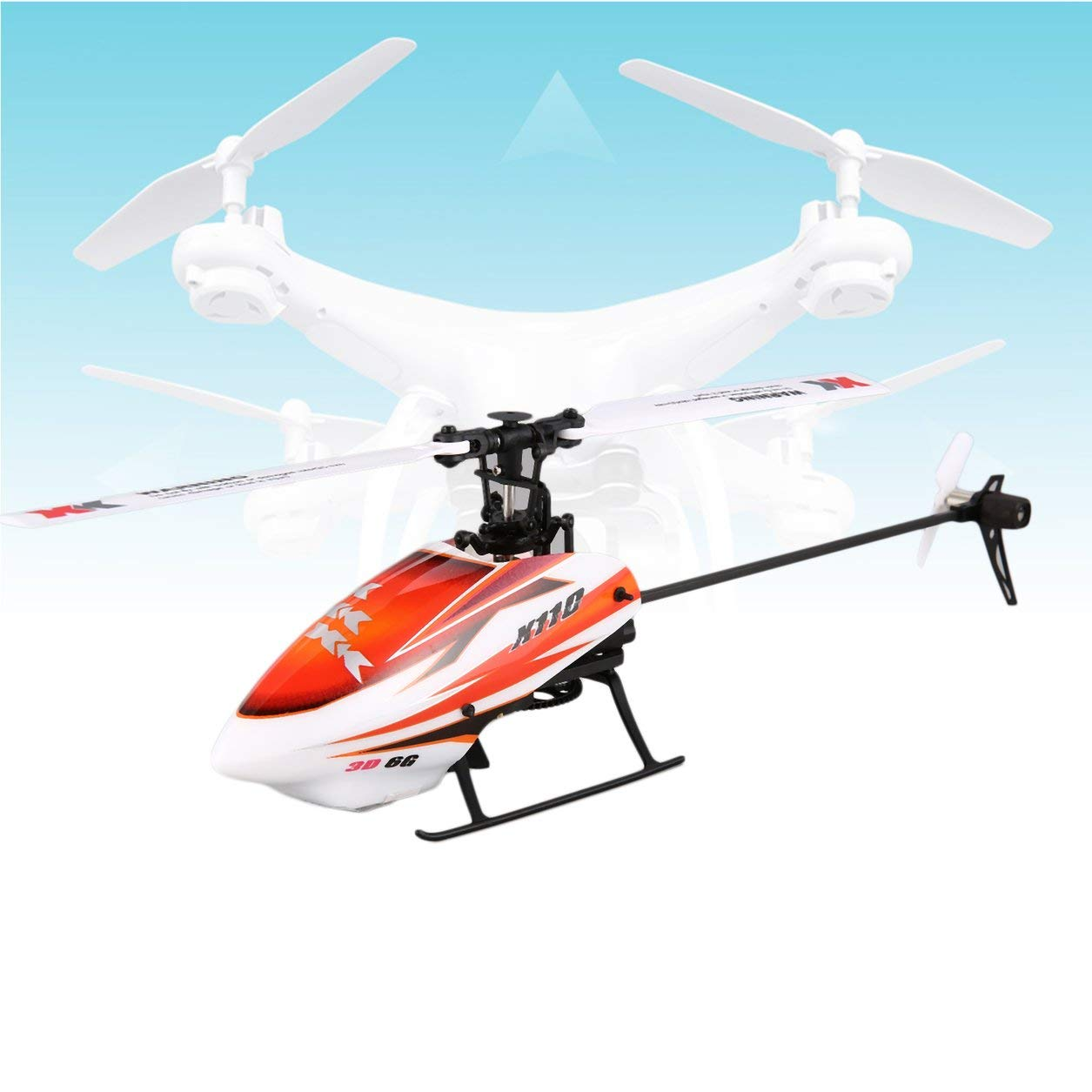 Dailyinshop XK K110 6CH 3D-6G-System Mini Brushless RC Hubschrauber-Drohne mit Gyro RTF