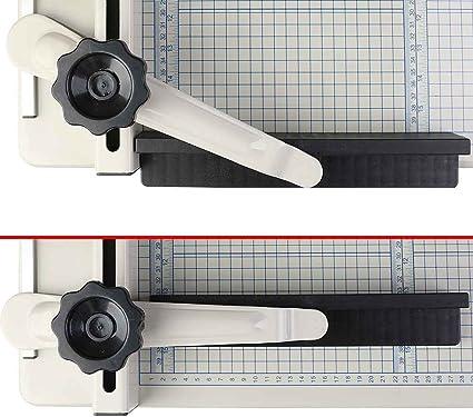 Papierschneider Pr/äzisions-Papierschneider aus Kunststoff wei/ß Foto-Schneider Lineal tragbar Venus valink A3A4 Papierschneider Karten-Schneideblock