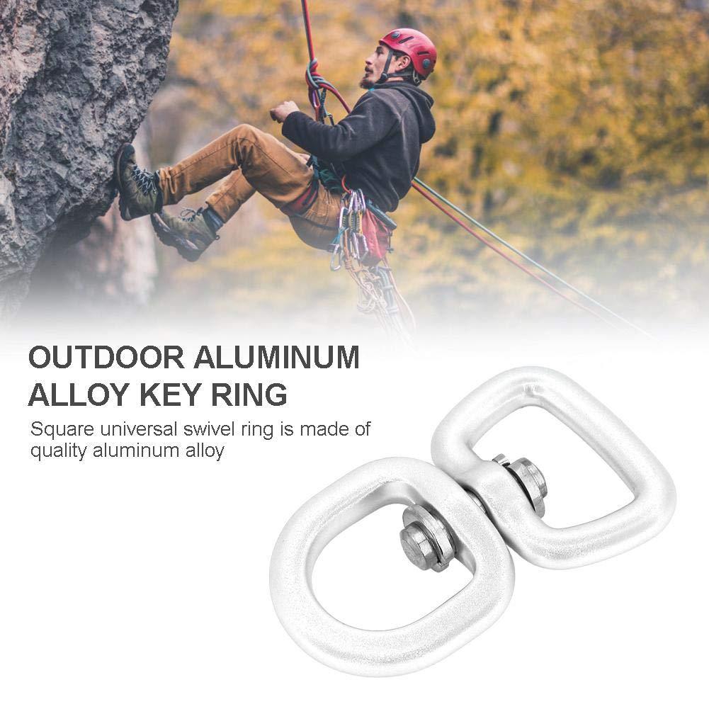 Alpinismo Anello Girevole 3 Colori Alluminio Lega Girevole Anello Portachiavi Fibbia di Connessione per Arrampicata su Roccia Altalene Appese