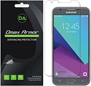 [6-Pack] Dmax Armor for Samsung Galaxy J3 Eclipse Screen Protector, Anti-Bubble High Definition Clear Shield