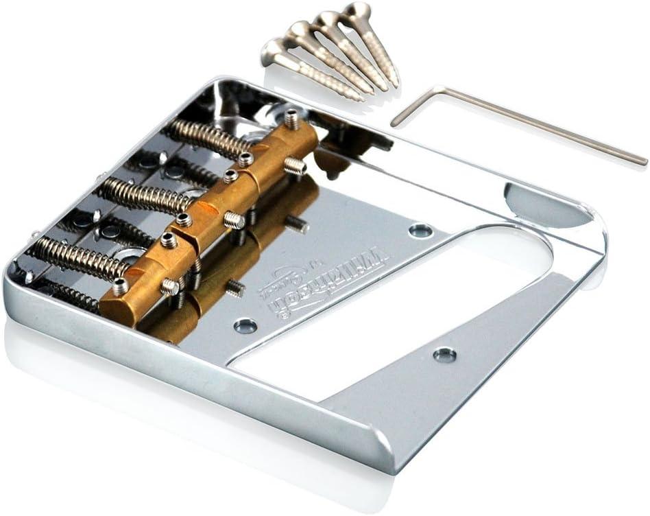 Wilkinson Chrome Wtb 'Ashtray' Bridge For Telecaster Type Guitars, With Brass Saddles (Chrome)