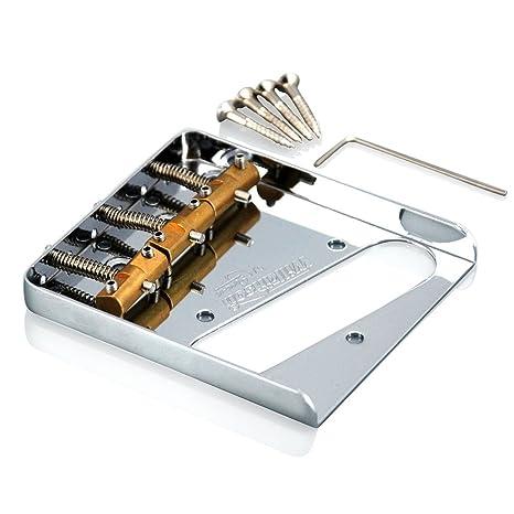 Wilkinson WTB cenicero de puente para guitarras tipo Telecaster, con monturas de latón,