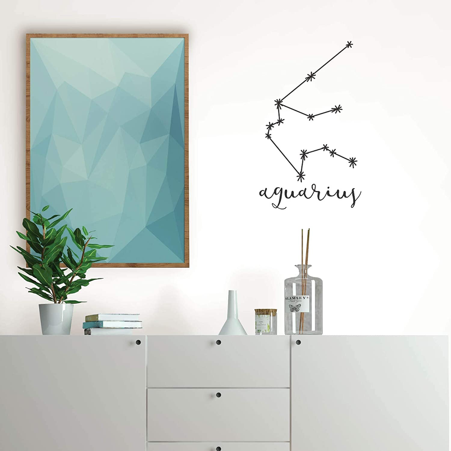 Black Wall Pops DWPK3174 Aquarius Art Kit Wall Decal