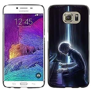 LECELL--Funda protectora / Cubierta / Piel For Samsung Galaxy S6 SM-G920 -- Fall Pumpkin Halloween Autumn --