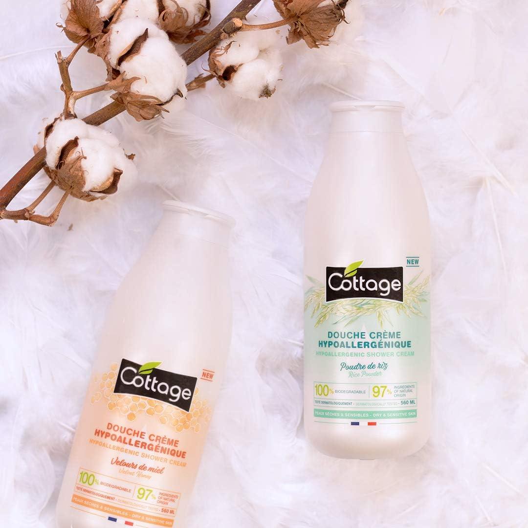 Cottage – Crema de ducha hipoalergénica – Polvo de arroz – 97% de ...