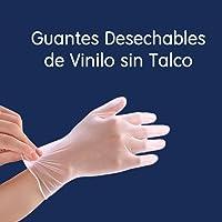 Lutema Guantes de Vinilo Sin Talco Transparentes Libre de Látex Caja con 100 Guantes Talla Grande Propiedades Anti-Estáticas para Uso Doméstico Cocina Protección de Seguridad para el Trabajo