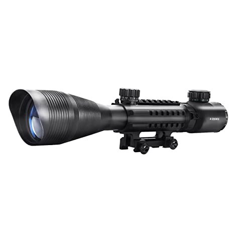 14db3c4c91a9a Gangnamstyle Rifle Scopes 4-12x50 Red Green Illuminated Cross-hair Tactical  Gun Scope for