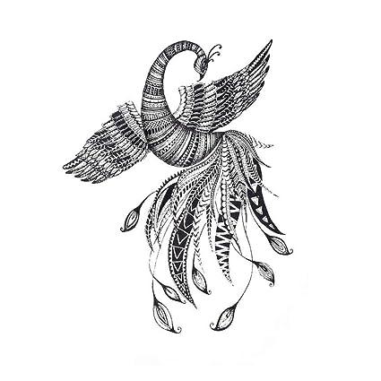 Just Fox - Tatuaje temporal, diseño de pájaro Phönix: Amazon.es ...