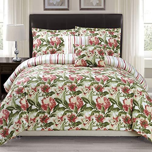 Panama Orchids - Panama Jack Orchid Grace 5-piece Comforter Set Queen