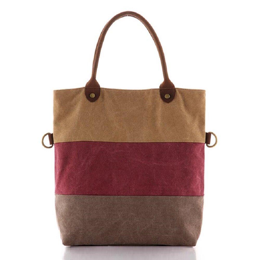 ZC&J Weibliche Outdoor-Erholung Retro-Leinwand Handtasche, Wander-Umhängetasche, solide Verschleiß-resistenten Spleißen Farbe Verteidigung Anti-Riss High-End-Handtasche