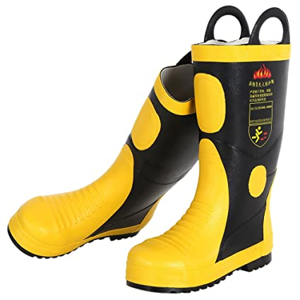 ae86abe0456 KKmoon Fire Boots; Portable Fire Fighting Boots Fireproof Waterproof ...