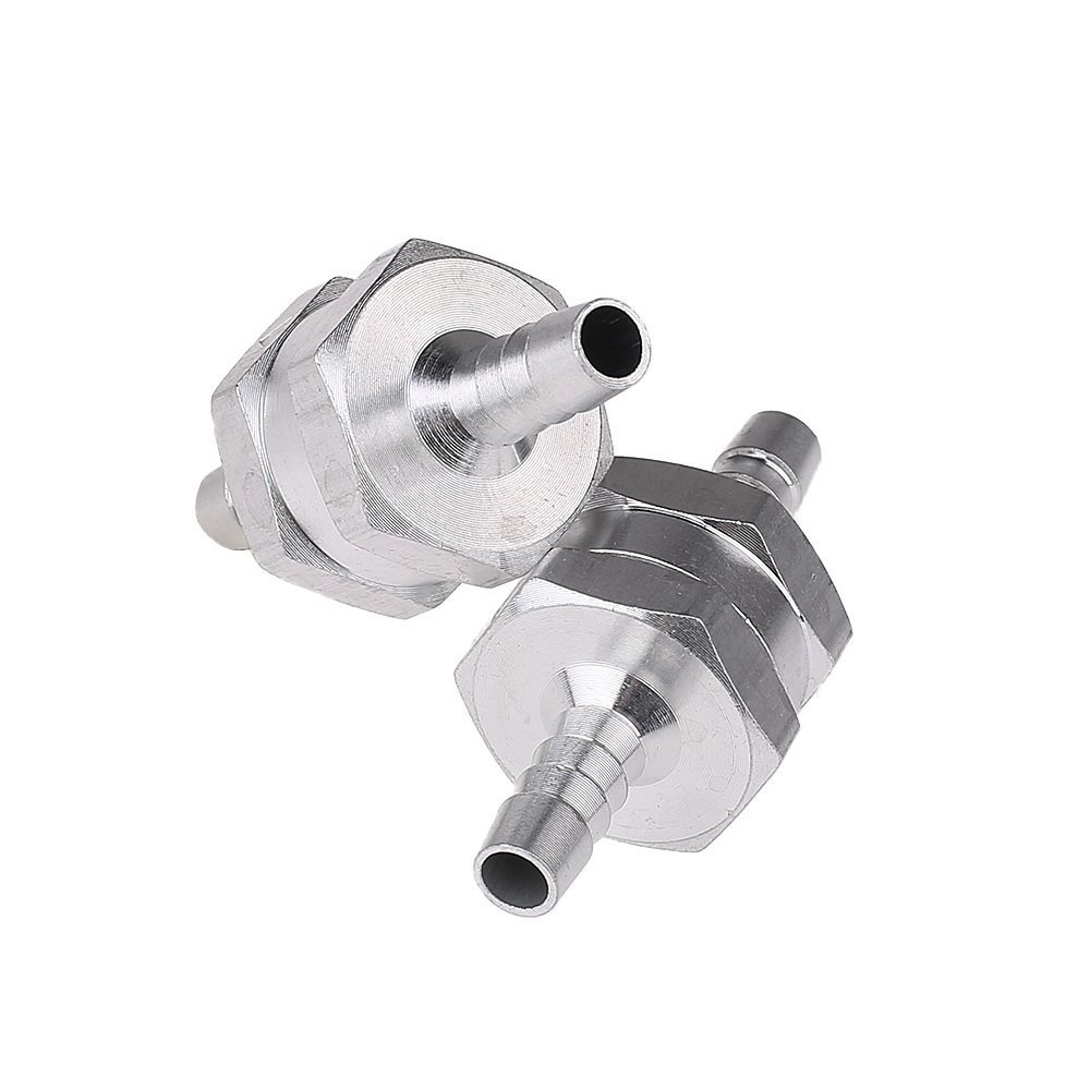 One-Way Non-Return Fuel Check Valve for Water Petrol Diesel Oils ZKer 3Pcs 12mm 1//2 Chorme Aluminum Fuel Non Return One Way Check Valve Petrol Diesel