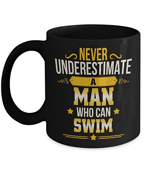 man gifts for christmas birthday a man who can swim coffee mug gag gift - Man Gifts For Christmas