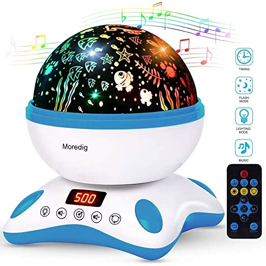Star Projector Ocean Wave Sleep Moon Lamp USB Night Light ...