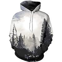 OWMMIZ Womens Mens 3D Printed Athletic Hoodies Sweatshirts Pullover Hooded Shirts Pocket