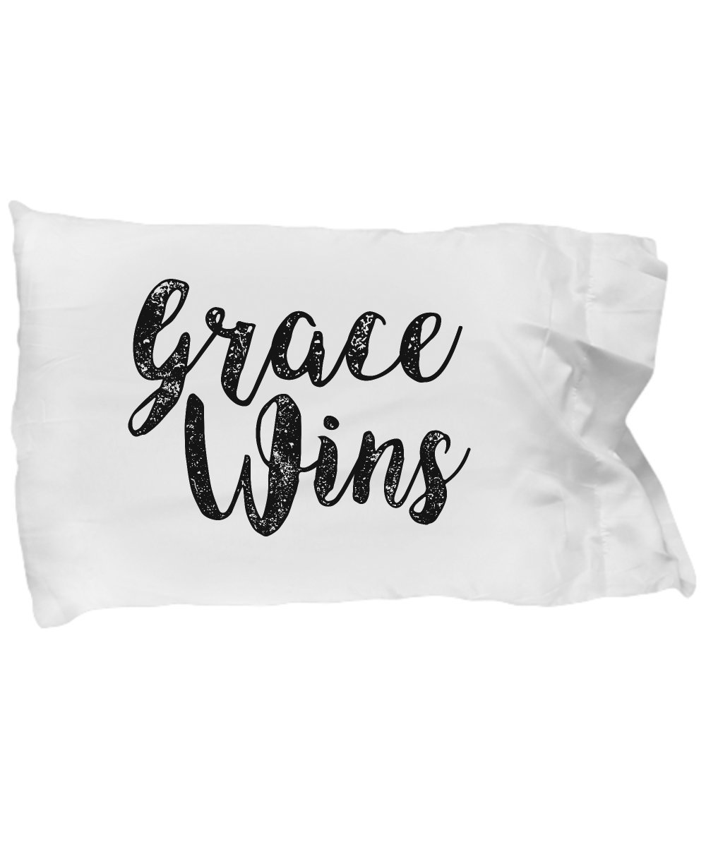 Pillow Covers Design Grace Wins Inspirational Christians Jesus Peace Gift Pillow Cover Ideas