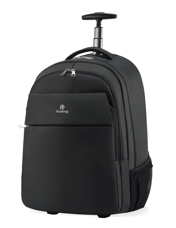 Plambag Oversized Rolling Backpack School Travel Weekend Luggage Bag, 20 Inch