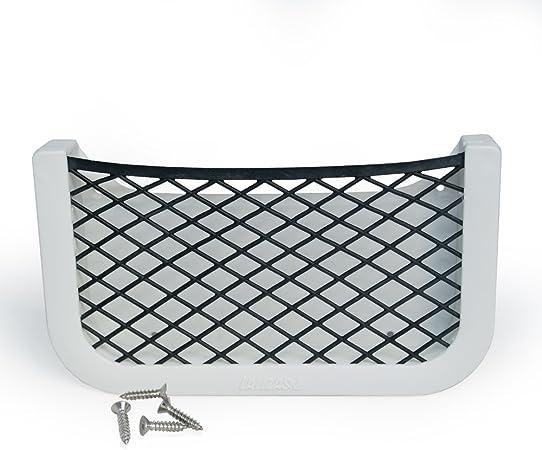 Rete portaoggetti Adesiva in Acciaio Inox Auto Barca Campeggio 205 x 120 x 10 mm FP per Auto