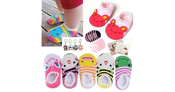 Amazon.com: 5 pares de calcetines finos Fly-love lindos a ...