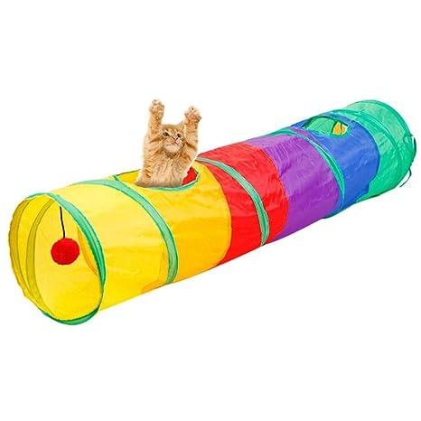 YUENA CARE - Túnel Plegable para Gatos, Juguete para Interior y Exterior, Juguetes para