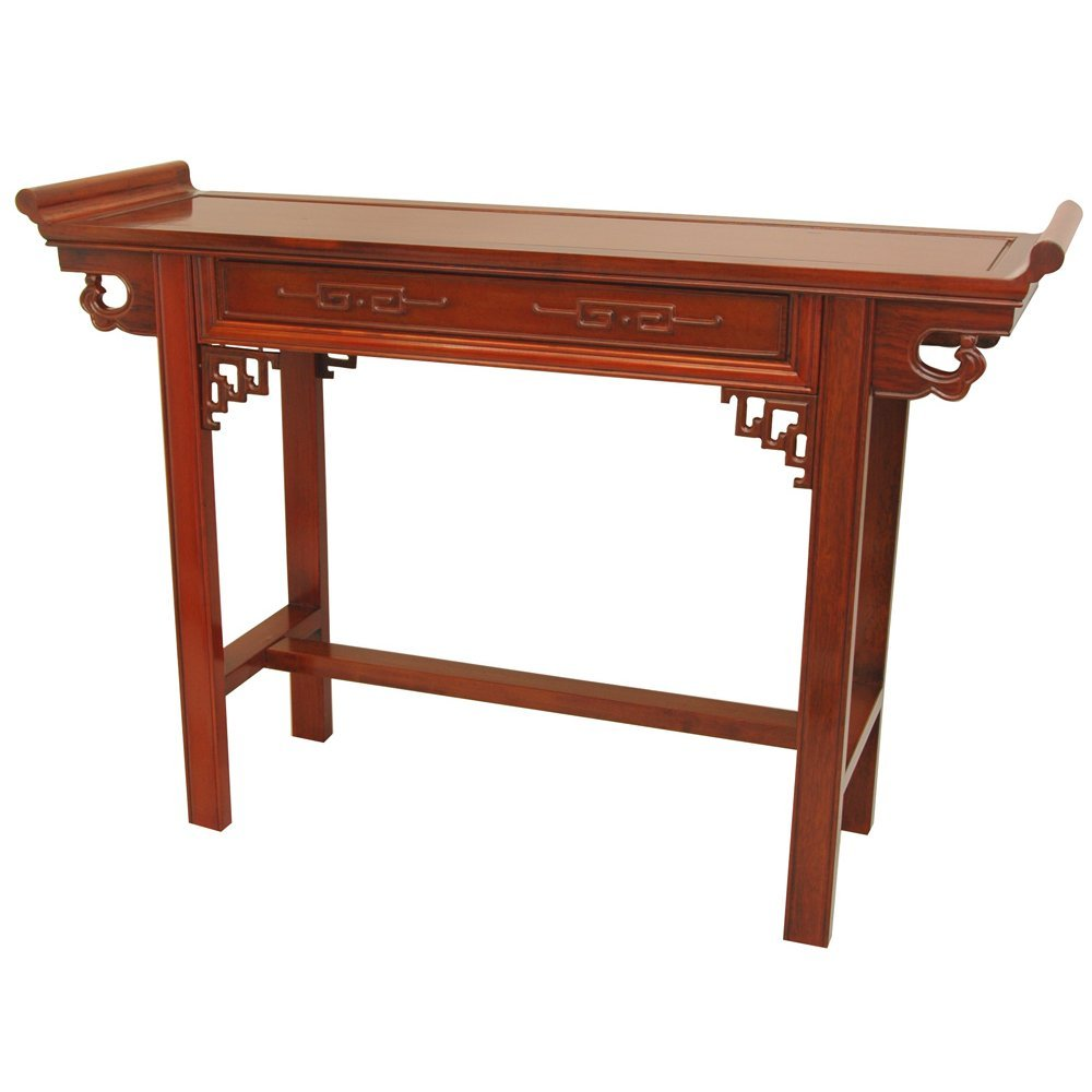 Amazon com oriental furniture rosewood qing hall table honey kitchen dining