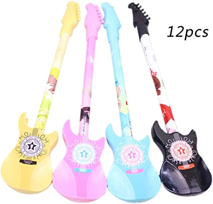 CAOLATOR 12 Pcs Forma de Guitarra Gel Pen, Bolígrafos de Tinta ...