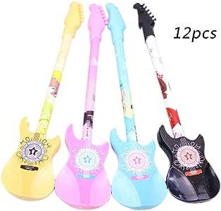 JUNGEN® 12PCS Bolígrafo de Forma de Guitarra Pluma de Gel ...