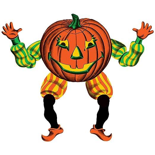 Retro Vintage Halloween Clip Art.Amazon Com Retro Vintage Halloween Decoration Jointed Jack O