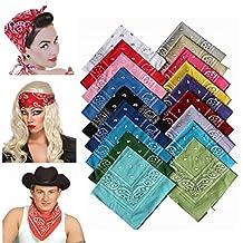 Head Wrap Bandanas Classic Paisley Bandana Scarf Headwraps for Men Women 22 inch