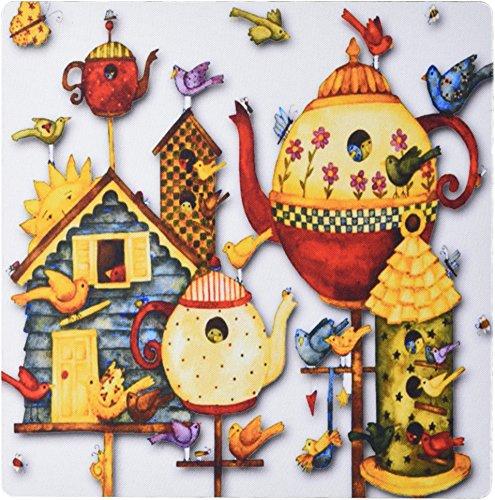 Price comparison product image 3dRose Pretty Decorative Teapots and Birdhouses Mouse Pad (mp_184658_1)