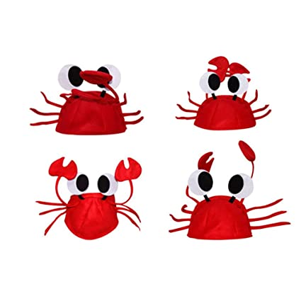 junlinto halloween christmas cute red lobster crab hat adult fancy party costume cap gift - Red Lobster Open On Christmas