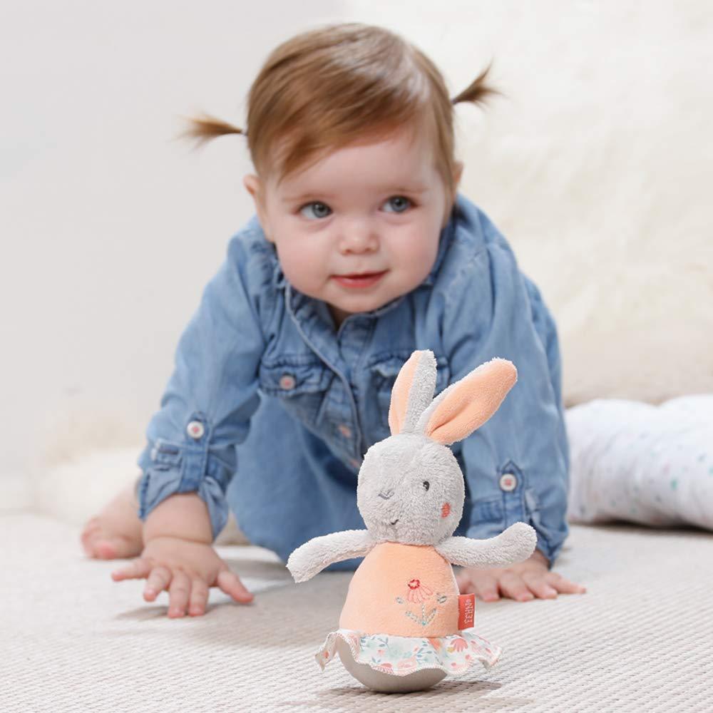F/ühlen und Stupsen F/ür Babys und Kleinkinder ab 0+ Monaten Gr/ö/ße: 20 cm Fehn 067668 Stehauf-Fledermaus Lustiges Spielzeug zum Greifen