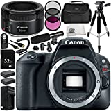 Canon EOS Rebel SL2 DSLR Camera with EF 50mm f/1.8 STM Lens 14 Accessory Bundle – Includes 32GB SD Memory Card + 2x Replacement Batteries + MORE - International Version (No Warranty)